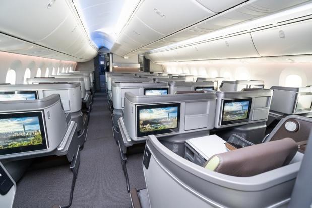 Les nouveaux sièges de la classe affaires Royal Laurel - DR Eva Air