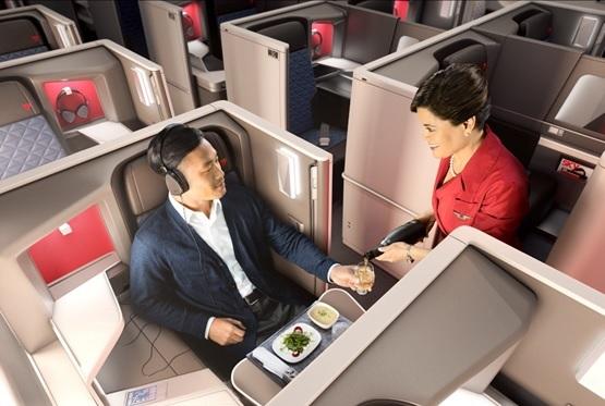 Les clients Delta One reçoivent un courrier électronique trois jours avant leur vol, les invitant à choisir leur repas dans le menu - DR Delta