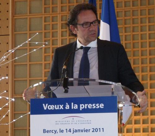 Frédéric Lefebvre, à l'occasion des vœux à la presse