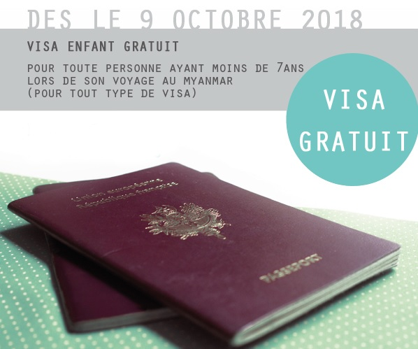 Le visa birman est gratuit pour les enfants de moins de 7 ans - crédit photo: @myanmarvisaservices