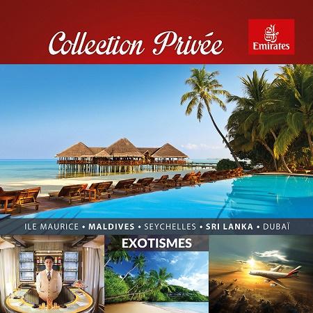 """Edition de la nouvelle brochure """"Collection Privée Exotismes with Emirates""""  - DR"""