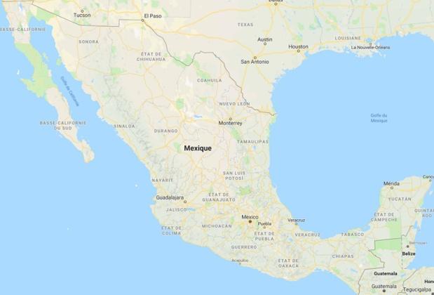 Pendant la saison des pluies, les côtes du Mexique peuvent être battues par des cyclones notamment sur les zones côtières - DR Google Map