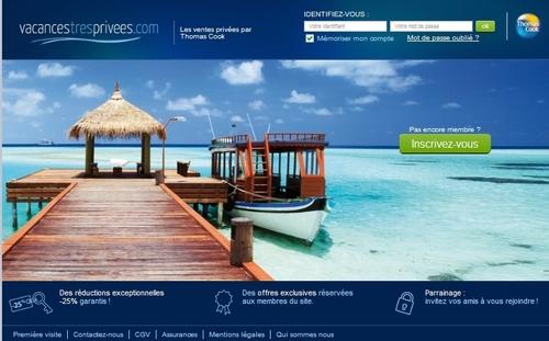 Thomas Cook : le site vacances-très-privées.com est opérationnel