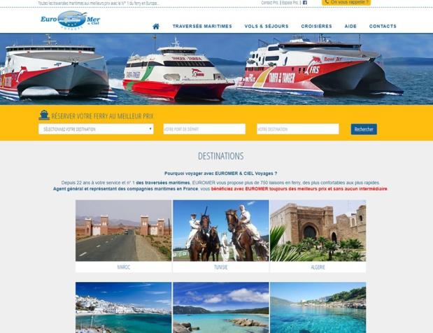 Euromer est en Europe, le représentant de 24 compagnies maritimes et travaillent avec 3 600 agences de voyages - DR : Capture d'écran Euromer