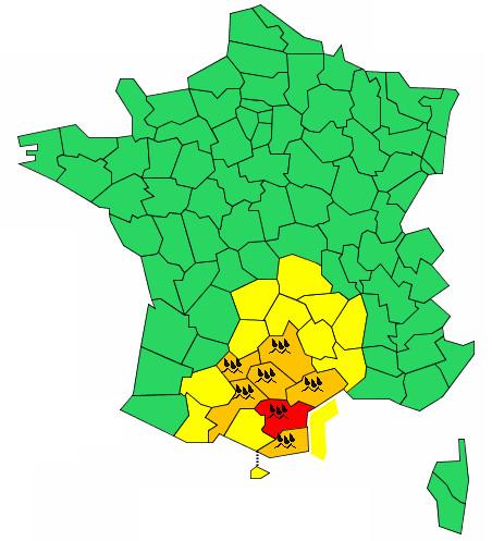 Météo France : l'Aude placée en vigilance rouge