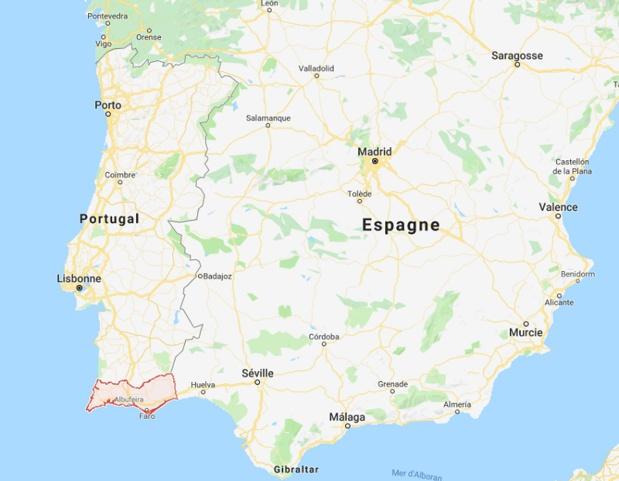 La région de l'Algarve se situe au Sud du Portugal - DR