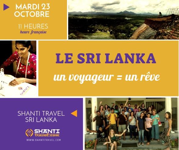 Rendez-vous mardi 23 octobre 2018 à 11h pour le webinaire Sri Lanka - DR : Togezer