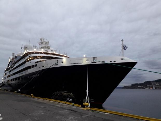 Le Champlain attend ses premiers passagers à Bergen en Norvège - DR : M.S.