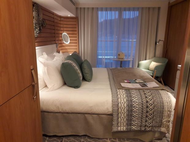 Une cabine au design chaleureux et contemporain ponctué de notes ethniques - DR : M.S.
