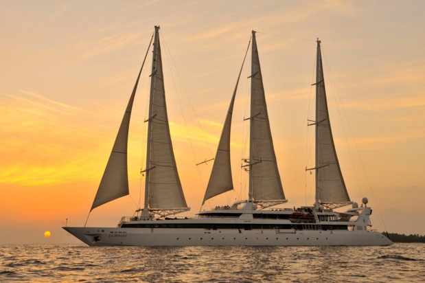 Le Ponant, l'emblématique voilier qui marque les débuts de l'aventure. Collection Ponant.