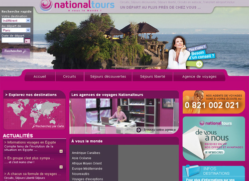National Tours se repositionne et mise sur le long courrier
