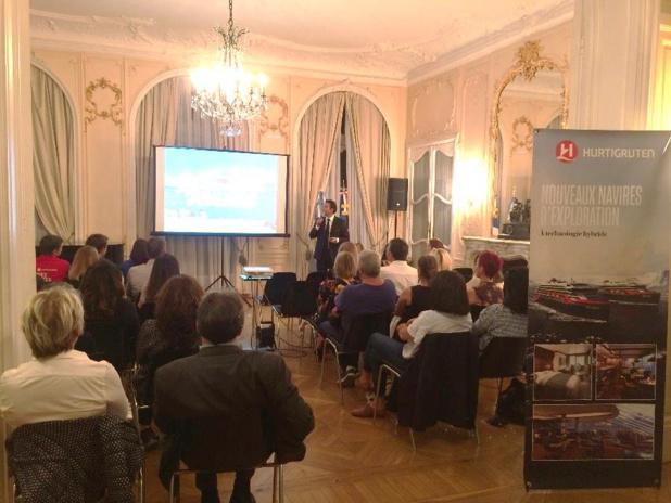 50 agents de voyages ont participé à la soirée argentine organisée par l'OT et Hurtigruten - DR : Hurtigruten