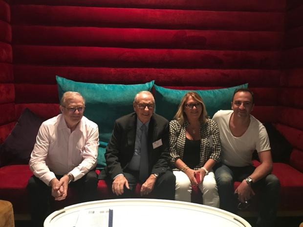 De gauche à droite : Francis Gallo, Jean Korcia, Michelle Herbaut et Grégory Mavoian © PG TM
