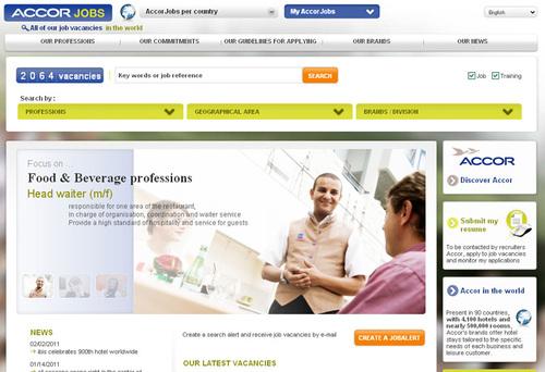 Accor : nouveau site mondial de recrutement, AccorJobs