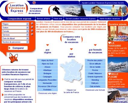 LocationVacancesExpress.com : comparer en ligne plus de 3000 résidences
