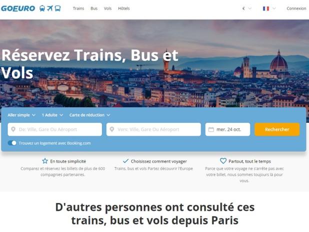Le site GoEuro permet d'effectuer des réservations train, bus et vols - DR
