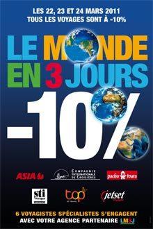 Le Monde en 3 jours : 1145 agences inscrites en 2011