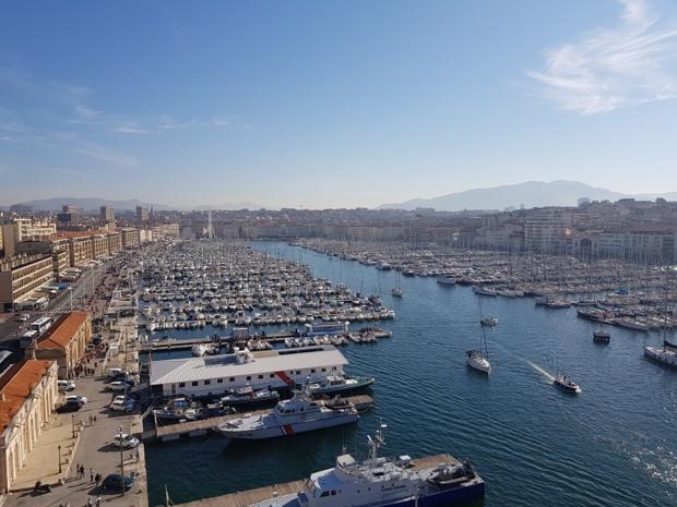 Le Vieux Port à Marseille vue du fort Saint-Jean - DR TourMaG CE