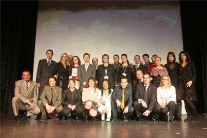 Toute l'équipe de Costa France présente aux 13eme Lauréats de la Mer