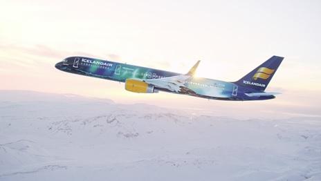 Icelandair dédie un avion aux aurores boréales - Crédit photo : Icelandair
