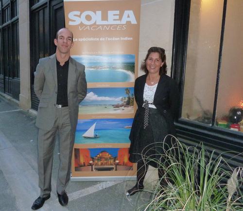 Nathalie Bueno directrice commerciale de Soléa et Yann Lloret directeur des ventes de Sun Resorts France