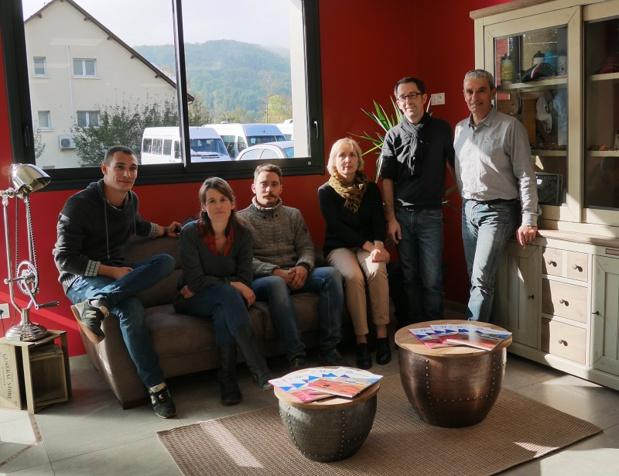 L'équipe de Deltour Voyages à Saint-Geniez-d'Olt - DR : Deltour Voyages
