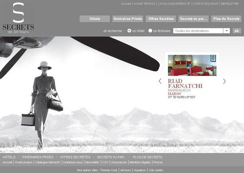 Le nouveau site de Secrets de Jet Tours - DR