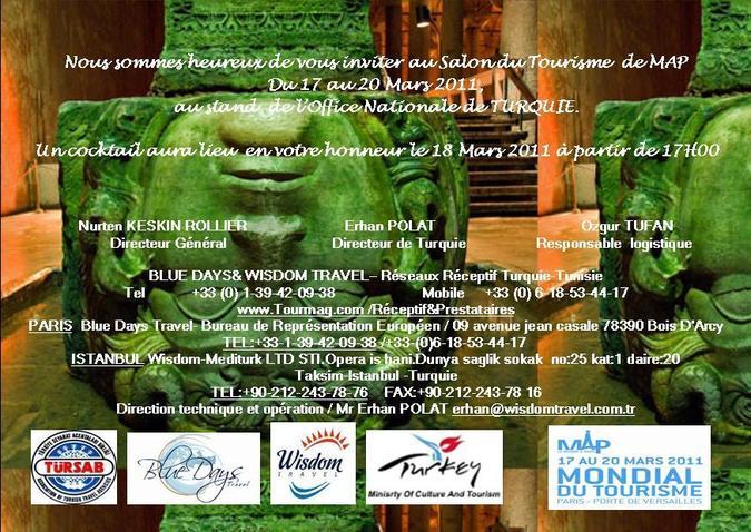 Blue Days & Wisdom Travel vous invite au salon du Tourisme de MAP du 17 au 20 mars