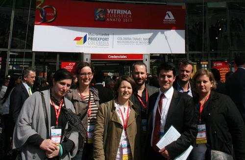 Le groupe de voyagistes français présents au CTM et emmené par German Castillo, représentant Proexport/TQC à Paris - DR JB