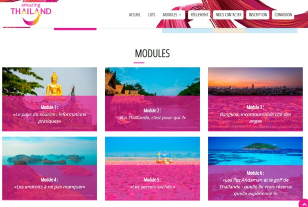 L'Office National du Tourisme de Thaïlande lance son premier elearning - DR