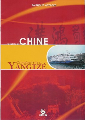 Taitbout Voyage diffuse auprès des agences pour les groupes la brochure Chine et Rhin et Danube.