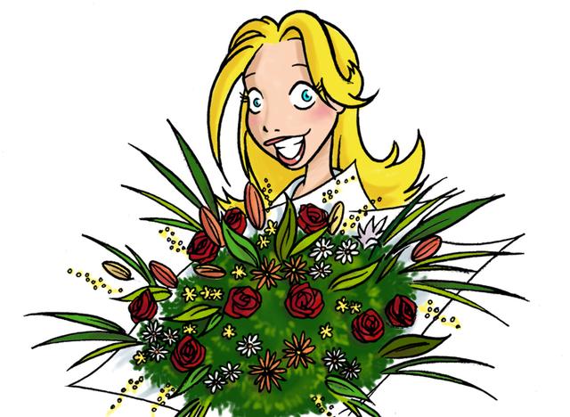 Pour la Journée des Femmes, Raphaël, notre talentueux graphiste, a décidé d'offrir à notre blonde agent de voyages un look plus tendre et qui sied davantage à notre Léa qui, au fond, est une grande romantique qui s'ignore (?)...