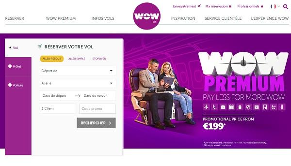 """Wow Air fait la promotion de son """"Big Seat"""" - Crédit photo : Wow Air"""