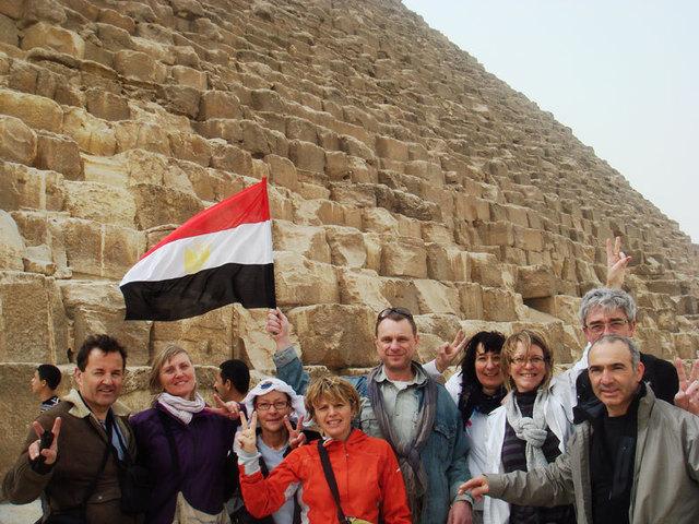 Le groupe de voyageurs partis en Egypte le 24 février dernier. - DR Hugues Thiry