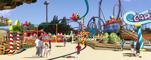 Les aires thématiques de PortAventura Park