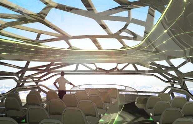 En 2011, Airbus dévoilait pour la première fois son projet d'avion aux parois transparentes et intelligentes © Airbus SAS