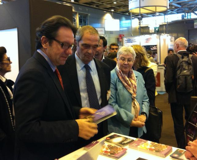 Frédéric Lefebvre a inauguré le MAP jeudi 17 mars, aux côtés de Georges Colson, président du SNAV et d'Anette Masson, présidente de l'association Tourisme et handicap
