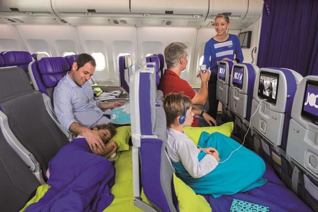Au total, 16 sièges Cosy Joon sont à votre disposition sur chacun des vols long-courriers Joon effectués en Airbus A340. - DR Air France