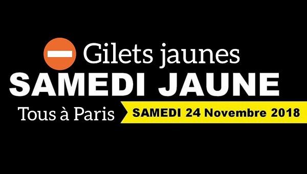 Les Gilets Jaunes ont décidé de mener une action sur Paris le samedi 24 novembre 2018 - Crédit photo : compte Facebook Je suis gilet jaune
