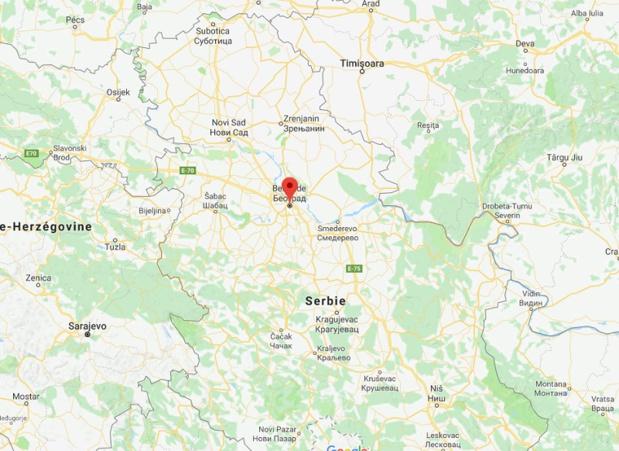 Air France assurera un vol quotidien vers Belgrade (Serbie) au départ de Paris-Charles de Gaulle - DR Google Map