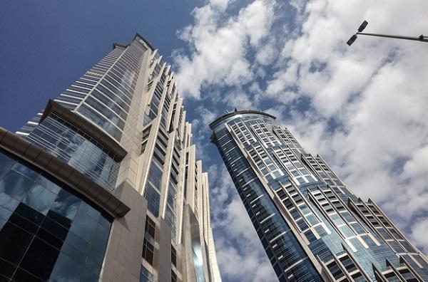 Le Marriott Marquis est actuellement le 2e hôtel le plus haut du monde - Crédit photo : RP