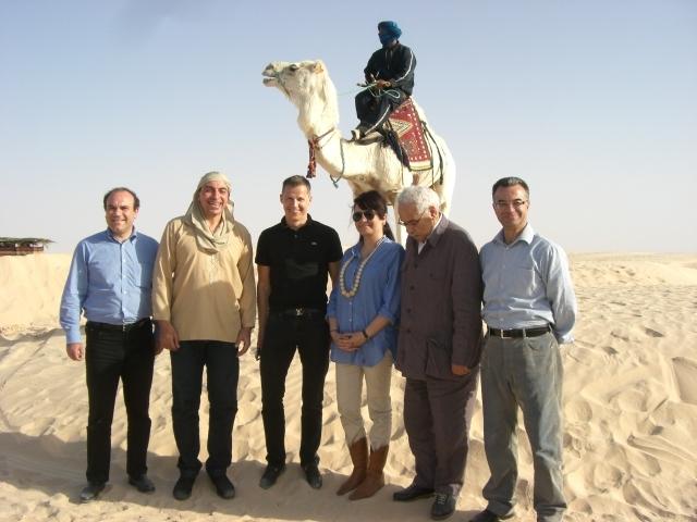 Habib Amar DG de l'ONTT, Mehdi Houas ministre du Tourisme de Tunisie, Boris Boillon ambassadeur de France en Tunisie, Amel Hachani représentante du Tourisme tunisien en France, Ezzedine Beschaouch ministre de la Culture et Slim Chaker Secrétaire d'Etat