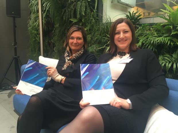Riet Goetschalckx, directrice des ventes Europe, Moyen Orient et Afrique et Silvia Semeria, responsable du développement commercial France, Scandinavie et pays émergents. - CL