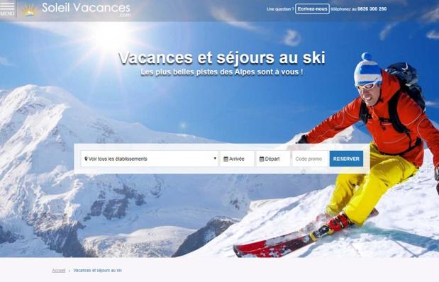 Le site de Soleil Vacances - DR