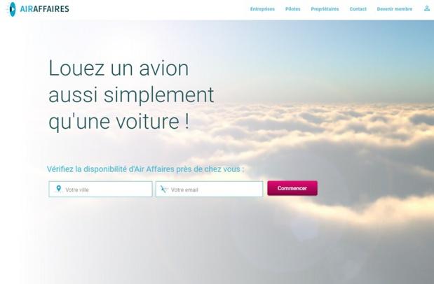 La plateforme Air Affaires permet de louer un avion - DR