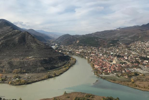 Mtskheta, capitale spirituelle de la Géorgie, classée au patrimoine mondial de l'Unesco et située à 20km de Tbilissi © PG TM