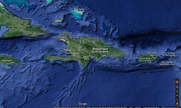 Haïti, le Quai d'Orsay recommande la plus grande prudence -Crédit photo : Google Maps