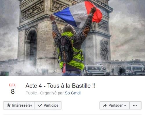 """Une des pages facebook gérée par les """"Gilets Jaunes"""" - DR"""