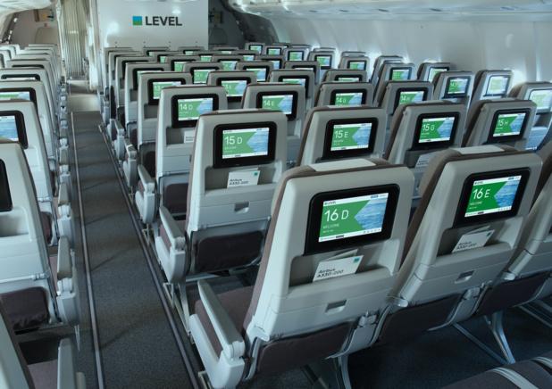 A bord de la classe éco © Level IAG