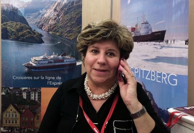 Non, RCCL n'a pas prévu de faire de la concurrence à Hurtigruten... Latitude Sud et la compagnie norvégienne partageaient simplement un stand au DITEX